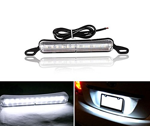 Xenon White Bolt-On 12 5730LED Bright Light License Plate Lamp Cover