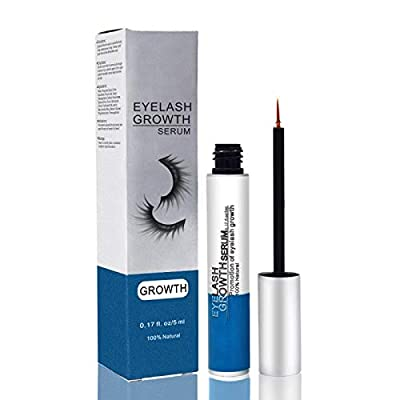 Eyelash Serum Eyelash Growth Serum Lash Enhancer Serum Eyelash Booster for Longer Fuller Eyelashes Eyebrow Enhancer Serum 5ml Blue