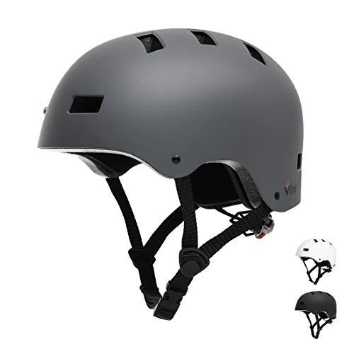 Skateboard Helmet Adult Kids-Adjustable Dial Bike Skate Multi-Sport Helmet Women Menwith 10 Vents