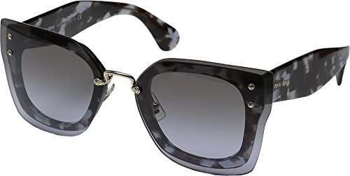 Miu Miu Women's 0MU 04RS Black/Grey Tortoise/Grey Gradient - Miu Sunglasses