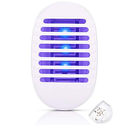 LIN1011 Bug Zapper - Mosquito Zapper with Lighting - Suitable for Indoor House and Courtyard (White, Pack of 1)