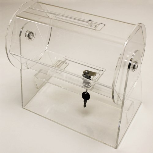 Deluxe Heavy Duty Small Acrylic Raffle Drum - Fits up to 2000 Tickets! by Poker Supplies