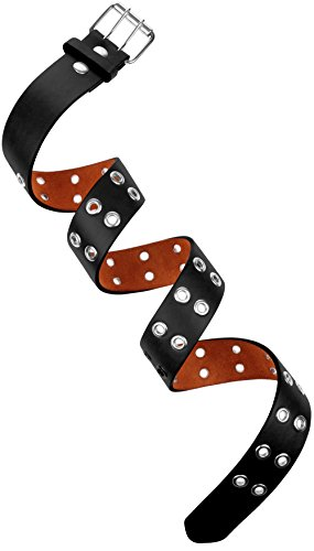 Buckle Grommets (Double Hole Leather Jean Belt Casual Removable Buckle 30