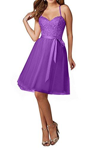 Tuell Wunderschoen Traeger Rosa Violett Cocktailkleider Spitze Damen Spaghetti Charmant Promkleider Abendkleider tqwTC55