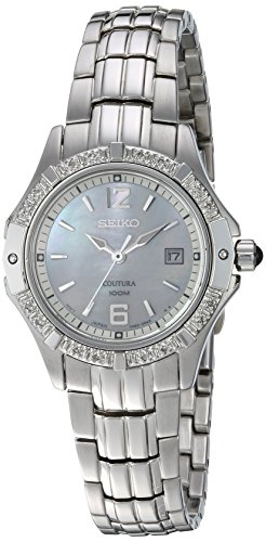 Seiko Women's SXDE19 Quartz Stainless Steel Mother-Of-Pearl Dial (Coutura Mother Of Pearl Dial)