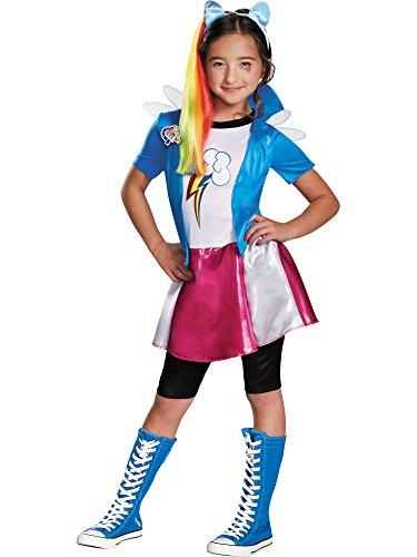Rainbow Dash Equestria Deluxe Costume, Medium (7-8)