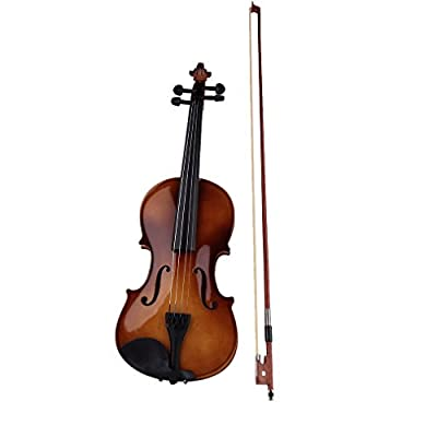 Preup 4/4 Professional Full Size Natural Acoustic Wood Color Violin Fiddle with Case Bow Rosin For Beginner Performer from Preup