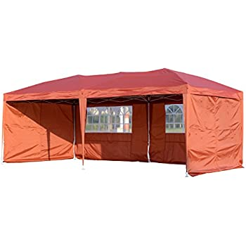 Ez Up Canopy 10x20 >> Amazon.com: Palm Springs 10 x 20 Pop-up WHITE Canopy w/ 6 Side Walls EZ to set up: Sports & Outdoors