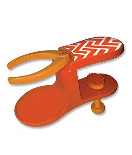 O2COOL Grip on Chevron Beverage Holder, Orange (Chevron Chaise)