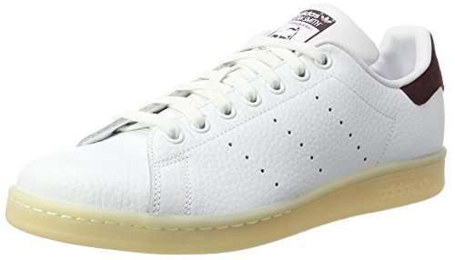 finest selection 95e41 feeb6 adidas Originals Men s Stan Smith Ftwwht Ftwwht Drkbur Leather Sneakers - 8  UK India (42 EU)  Buy Online at Low Prices in India - Amazon.in