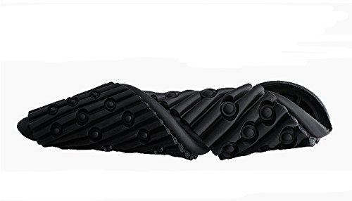 Sole Lorence Mens Moda Retrò Moda Traspirante Sneakers Casual Scarpe Da Guida In Vera Pelle Nera Inglese