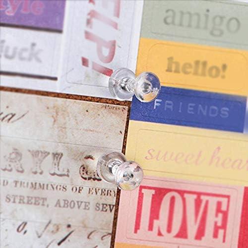 MoGist 400/pezzi colore trasparente in plastica sughero per unghie pushpins bacheca ago con scatola trasparente per famiglie Scuole e lavoro posti