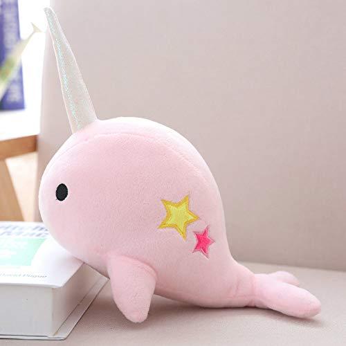 WATOP Stuffed Animals - Unicorn | yesfeier 25cm Unicorn narwhal Stuffed Soft Animal Whale Plush Toy Kids Dolls for Children Birthday chidlren(Pink-25CM)