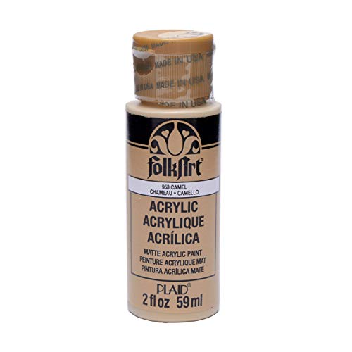 FolkArt Acrylic Paint in Assorted Colors (2 oz), 953, Camel (Camel Paint)