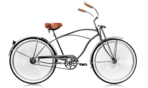 Micargi Cougar GTS for Man, All Chrome Beach Cruiser Bikes with 68-Spoke 26