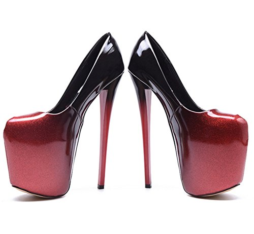 Donna Per Di Rosse Tacco Grandi Alto Dimensioni Nere 34 Le Scarpe Nvxie Red Da E Con 20 Cm 40 Z8qXxxS