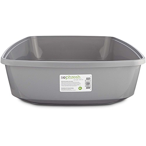 So Phresh Gray Open Cat Litter Box, X-Large