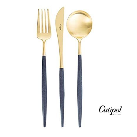 Amazon.com: cutipol Goa azul/oro Series Home Dinner ...