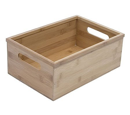 DVD And Video Storage Box   Bamboo (Bamboo) (4.75u0026quot; H X 8.5u0026quot