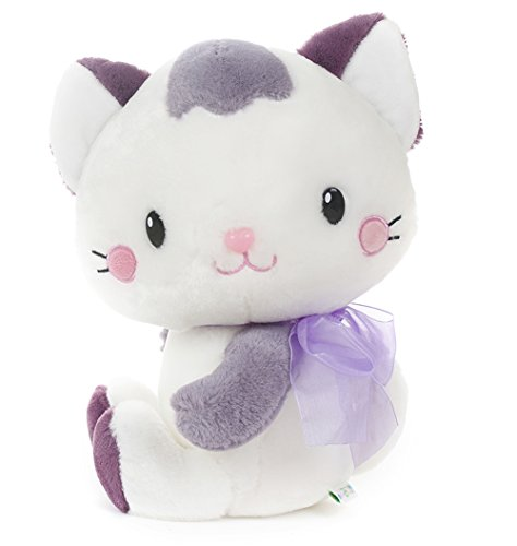 "USATDD Cat Plush Stuffed Animal Toy Bedtime Soft Doll Lovely Cats Purple 9.8"" Best Gift"