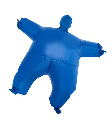 MorphCostumes Blue MegaMorph Kids Inflatable Blow Up Costume - One Size ()