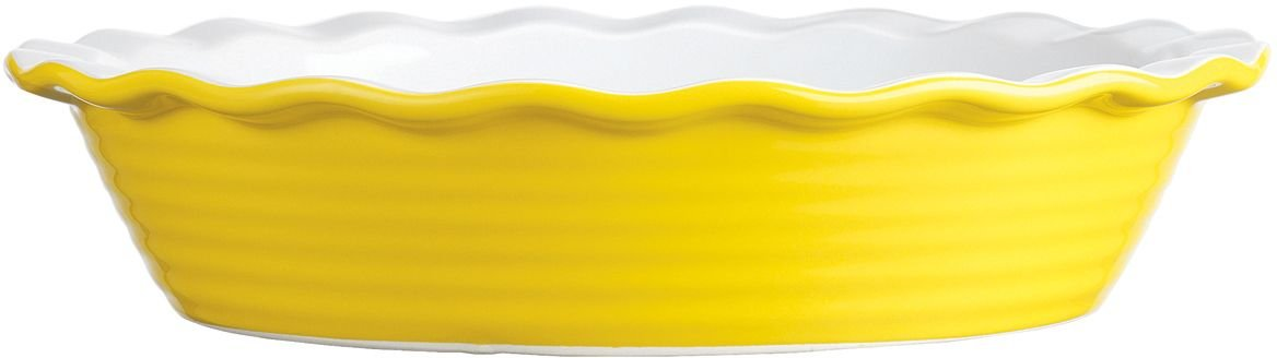 Palais Dinnerware 'Tarte' Collection, Ceramic Pie Dish - 10'' Diameter (Yellow)