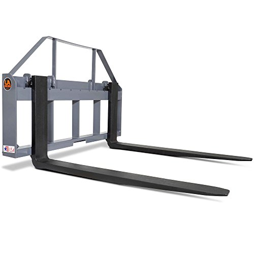 UA Made in the USA 42'' Skid Steer Pallet Fork Attachment with Blades by United Attachments