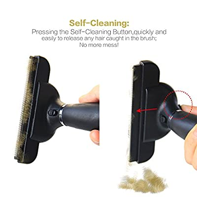 Pet Grooming Brush Tool Pet Deshedding Brush Tool - Innoo Tech for Medium & Large Dogs+Cats, With Short to Long Hair- Dramatically Reduces Shedding-Easily Remove Shed Hair