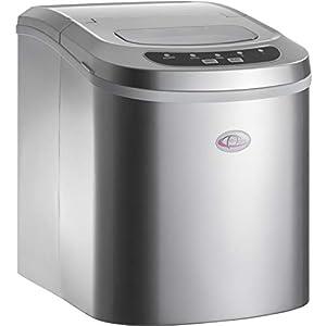 TecTake Machine à glaçons Appareil de préparation de Glace – diverses Couleurs au Choix – (Argent | no. 400474)