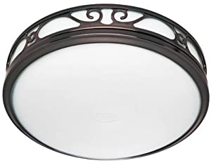 Hunter Ventilation Sona Bathroom Exhaust Fan with Light, Imperial Bronze
