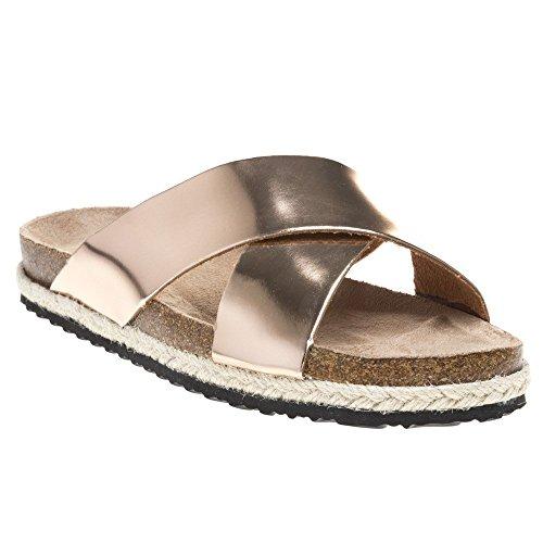 Sole Layla Sandals Metallic Rose Gold Metallic