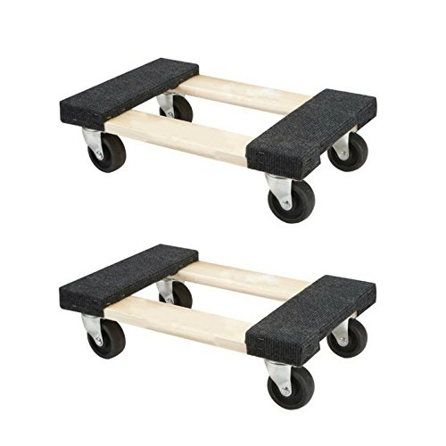 Small Moving Dolly 18x12 Flat Rolling Dolly - Holds up to 1000lbs (Mini 2 Pack)