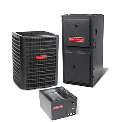 (Goodman 4 Ton 14.5 Seer Air Conditioning System with 120,000 BTU 96 Percent AFUE Upflow Gas Furnace)