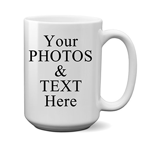 Logo Photo Mug - Personalized Coffee Mug - Add pictures, logo, or text to our 15oz Ceramic Custom Mugs