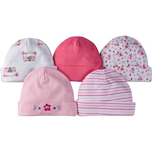 Gerber Baby Girls 5 Pack Cap, Lil