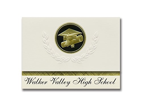 Signature Announcements Walker Valley High School (Cleveland, TN) Graduation Announcements, Presidential style, Elite package of 25 Cap & Diploma Seal Black & Gold