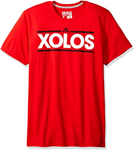 fan products of MLS Club Tijuana Men's Dassler Short Performance Tee, Large, Red