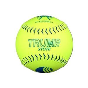 """1 Dozen USSSA Trump Stote Classic M 12"""" Softballs - 40cor/.325 Compression (AK-EZ-USSSA-Y)"""