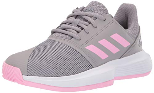 adidas Courtjam Bounce, Light Granite/True Pink/White 1.5 M US Little - Tennis Pro Adidas