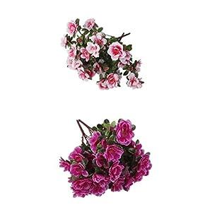MagiDeal 4pcs Artificial Fake Azalea Flowers Indoor Outdoor Greenery Shrubs Plants Bushes Wedding Holiday Decor 115