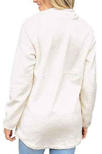 Plus Spécial Jersey Doux Longues Manches Jumper White Hiver Élégant shirts À Style Confortable Sweat Bobolily Shirts Sweat Size Détendu Automne De Sport Femmes shirt 1wPUdzq4