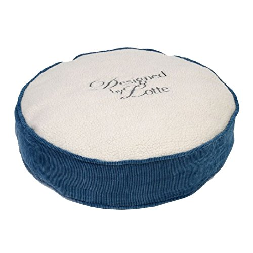 Designed by Lotte Cat Rest Cushion Prost Round, 50 x 12 cm, Cream bluee