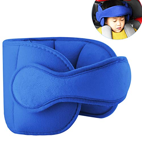 Toddler Car Seat Head Support Child Safety Car Seat Neck Relief Holder Baby Sleep Aid Strap Kids Gift (Blue) from Yinuoday