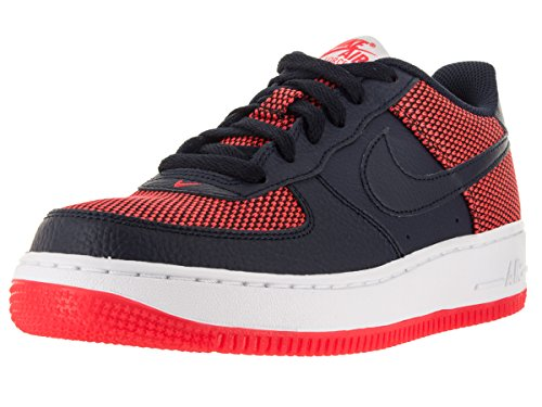 Nike Air Force 1 Premium (Gs), Zapatillas de Baloncesto para Niños Naranja / Negro / Blanco (Bright Crimson / Obsidian-White)