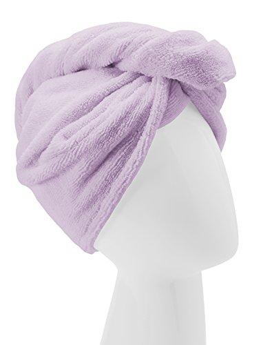 Turbie Twist Microfiber Hair Towel Wrap [Single Pack] - The Original Microfiber Hair Wrap As Seen On TV! Available in Pink, Blue, Purple and Aqua Hair Turban Towel Wraps (Purple)