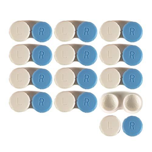 Contact Lens Case 12 Pack - Blue Travel Safe Holder
