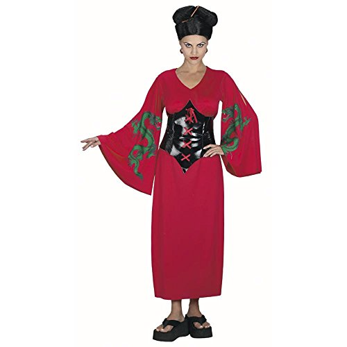 Adult's Asian Dragon Lady Costume (Size: Standard 12) (Dragon Lady Red Costume)