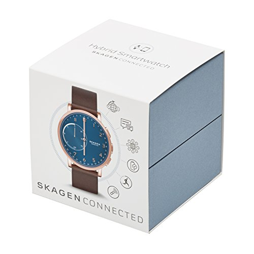 Skagen Hagen Connected Brown Leather Hybrid Smartwatch