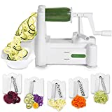 Best Spiralizers - Spiralizer 5-Blade Vegetable Slicer, Strongest-and-Heaviest Duty, Best Veggie Review
