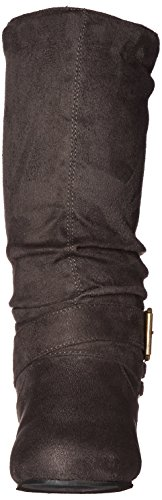 Brinley Co Womens Prospect-08wc Slouch Boot Grey Wide tDS8GlSuZ